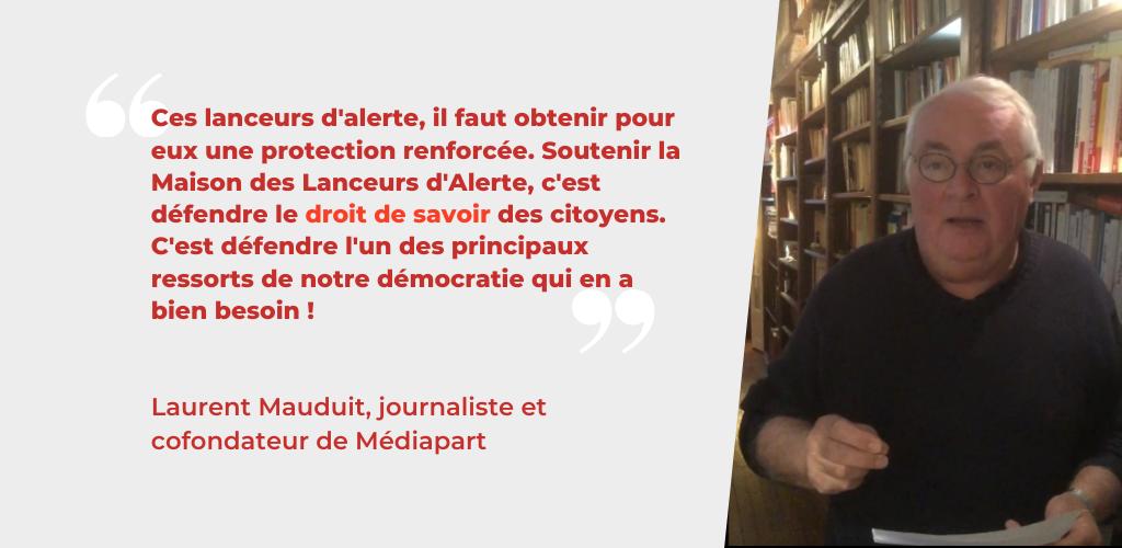 Témoignage Laurent Mauduit